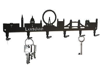 Key holder / hook London Skyline - key hooks for wall, hanger - 6 ...