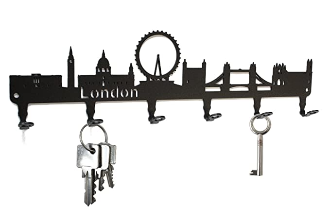 Amazon.com: Londres Skyline – Llavero de pared Inglaterra ...