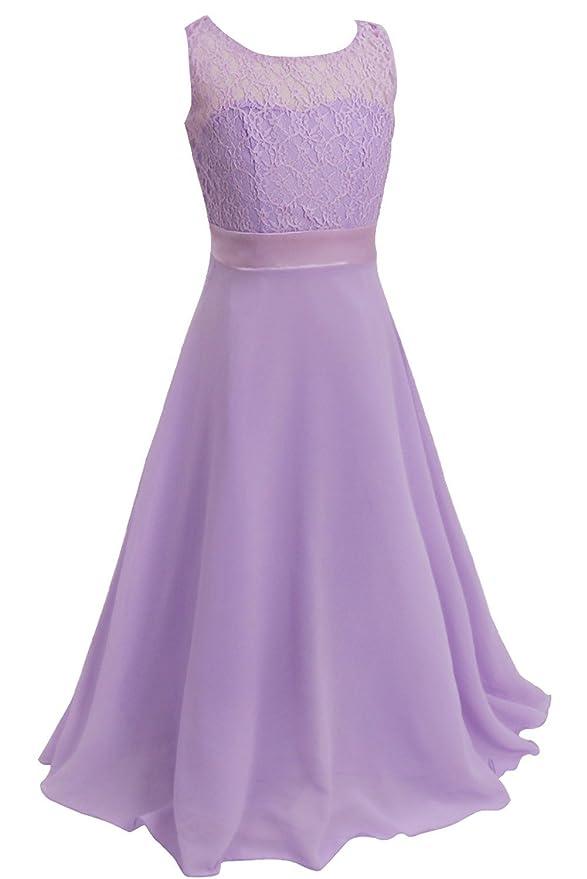 Freebily Vestido Elegante Boda para Niña Dama de Honor (4-14 Años ...