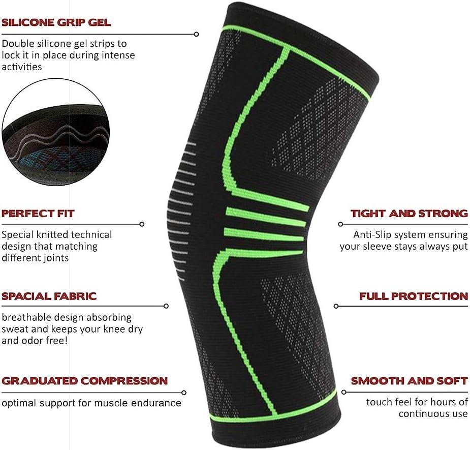 Kniebandagen Knieschoner Bequem atmungsaktiv zum Laufen Wandern Camping Fußball