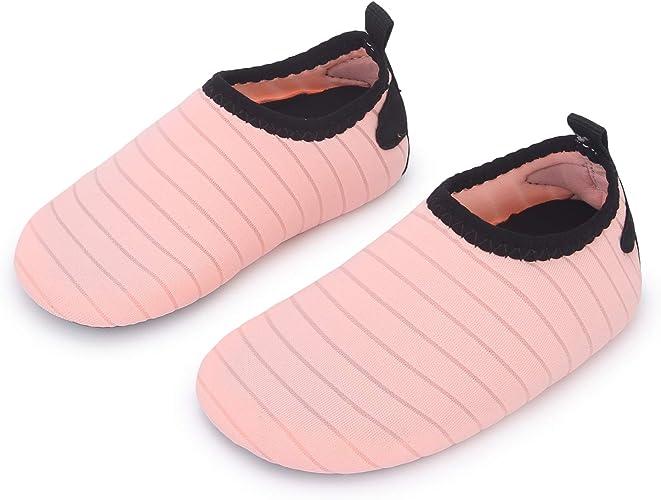 Amazon.com: L-RUN Zapatos de agua para bebé, calcetín de ...