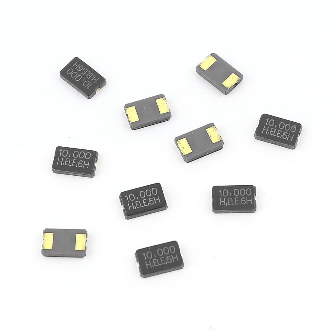 Aexit 10 Pcs Passive Components 10MHz 10.000Hz SMD 2Pin Passive Crystal Crystals Oscillator 5032