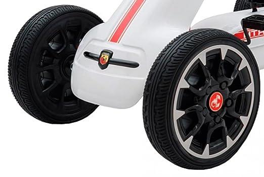 Babycoches Kart Coche de Pedales Fiat Abarth, Ruedas neumaticas, carenado de Proteccion, Freno de Mano, Asiento Regulable, Color Blanco: Amazon.es: Juguetes ...