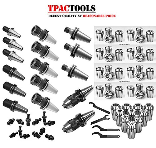 HAAS or MAZAK CAT40 Tooling Package ER16 ER32 Collet Chuck Collets Drill Chuck End Mill Holder by TPACTOOLS