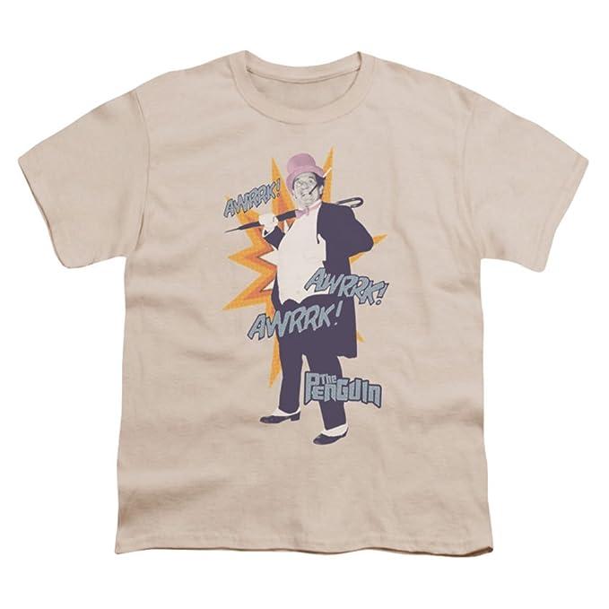 1dde98ce Amazon.com: Batman TV Series - Youth T-Shirt Penguin Cream: Clothing