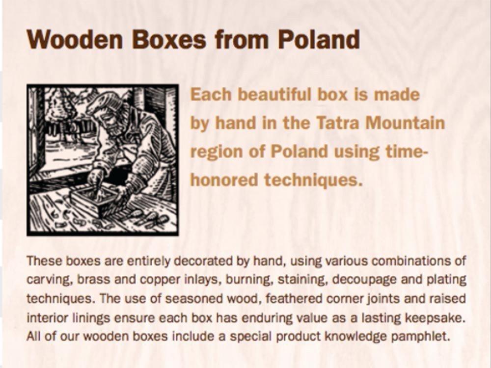 Secret PUZZLE BOX, Handmade Wood Keepsake Jewelry Treasure Collector Box, Unique Masterpiece, Made in Poland