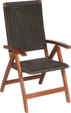 TrendLine Chaise Hanoï bois d\'acacia Chaise de jardin en bois chaise ...