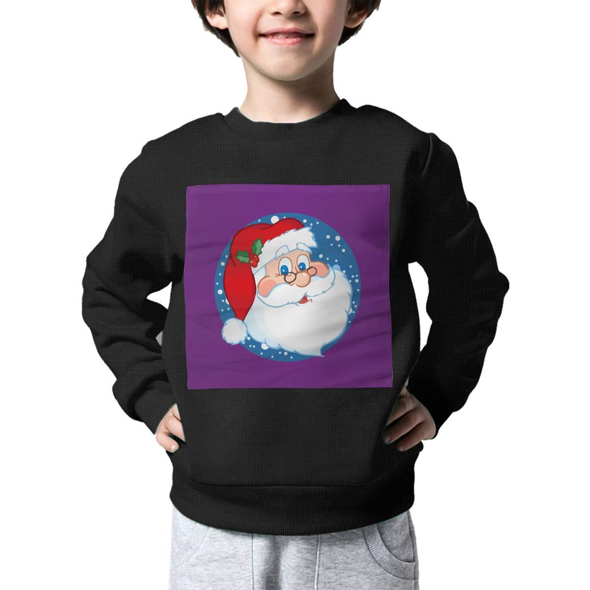 Warm/&Q90 Santa Face Toddler Childrens Print Crew Neck Sweater Long Sleeve Cute Knitted Sweatshirt