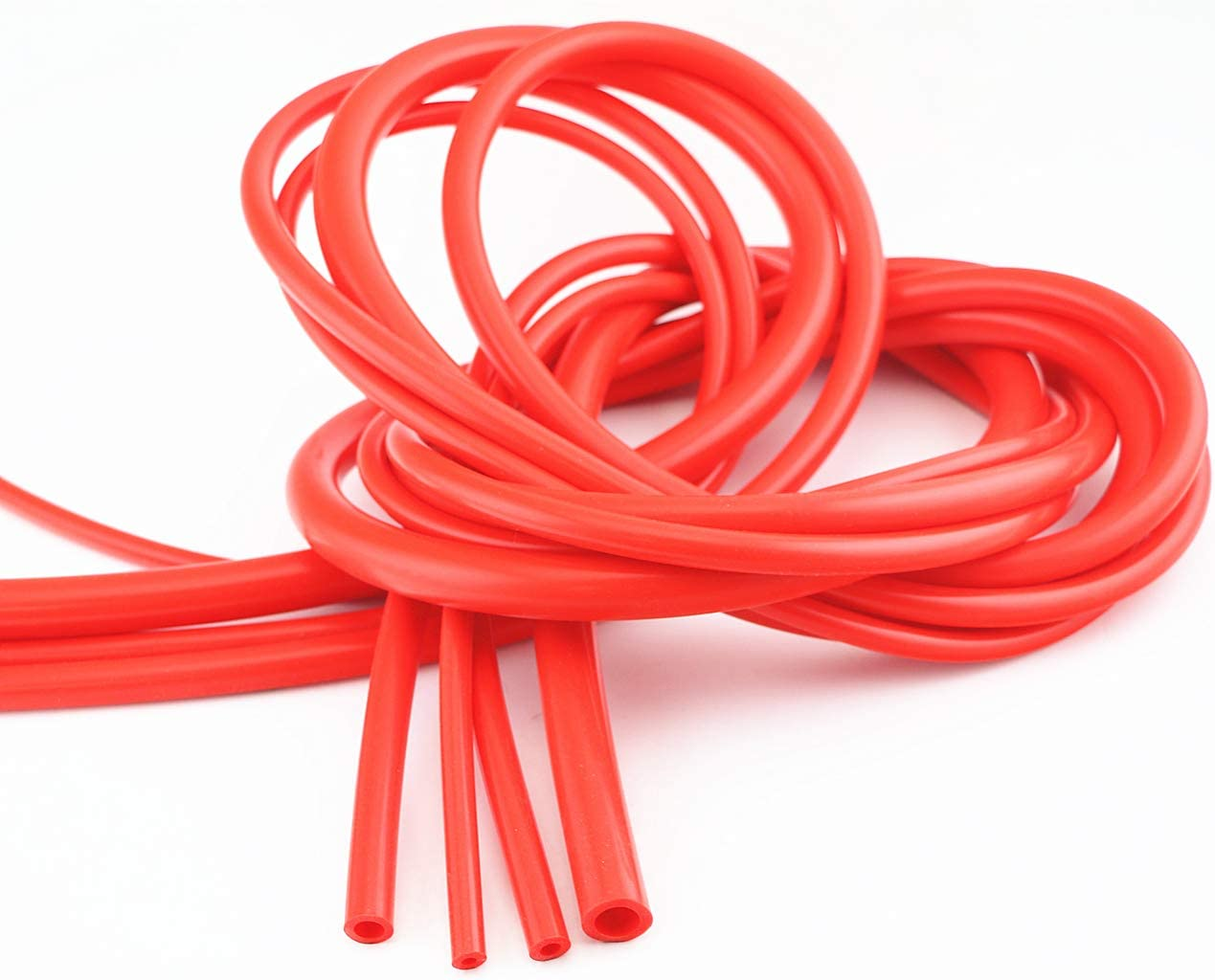 QIKE Universal 4mm/6mm/8mm/12mm /Inner Diameter High Performance Silicone Vacuum Hose Tube Kit (red, 4size): Automotive