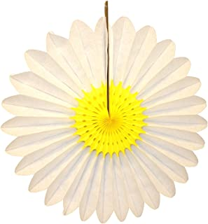 product image for 3-Pack 18 Inch Tissue Paper Fanburst Decoration (Yellow and White)
