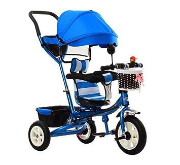 BZEI-BIKE Triciclo Carrito de bebé Bicicleta Niño Juguete Trolley Rueda Inflable Bicicleta 3 Ruedas