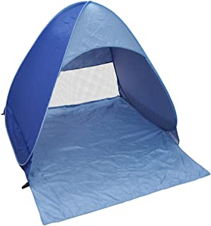 ZZM Portable Construction automatique Outdoor Camping Tent Beach Sun Shelter Pop Up Beach Tent Blue