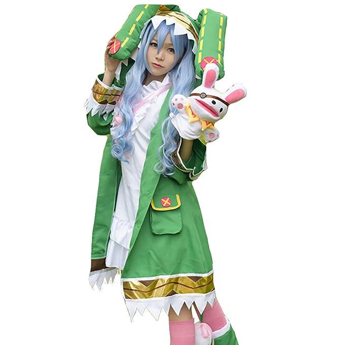 Amazon.com: Yoshino - Disfraz de conejo verde para mujer ...