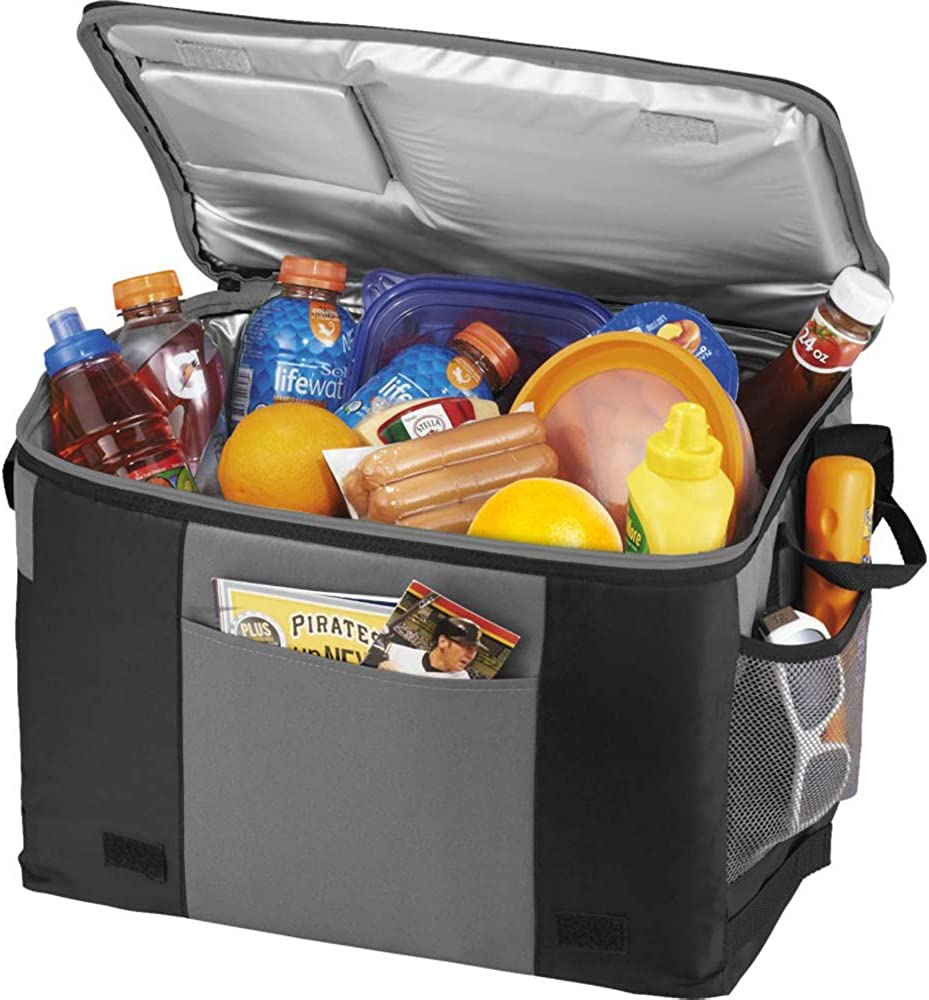 Amazon Com California Innovations 50 Can Table Top Cooler 16 5 X 11 5 X 11 Inches Solid Black Gray Clothing