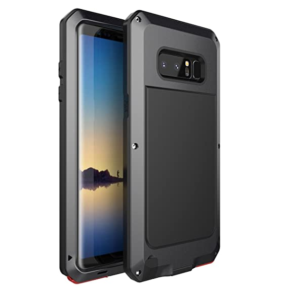new concept 8890d bd8e1 Samsung Galaxy Note 8 Case, AICase Shockproof Dustproof Zinic Alloy Metal  Extreme Hybrid Armor Bumper Cover Shell Case with Screws for Samsung Galaxy  ...