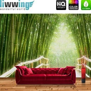 Vliestapete Fototapete Vlies Tapete Wald Bambus Natur Bamboo Grun