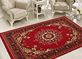 Sweethome Stores Clifton Collection Red Medallion design Area Rug (7'10 X 9'10, Red Medallion) Review