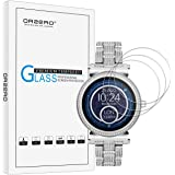 [3 Pack] Orzero For Michael Kors sofie (MKT5022 MKT5021) Smart Watch Tempered Glass Screen Protector, 2.5D Arc Edges 9 Hardness HD Anti-Scratch Bubble Free [Lifetime Replacement Warranty]