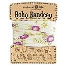 Natural Life Boho Bandeau Cream & Pink Flower Pattern