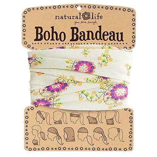 Natural Life Boho Bandeau Cream   Pink Flower Pattern