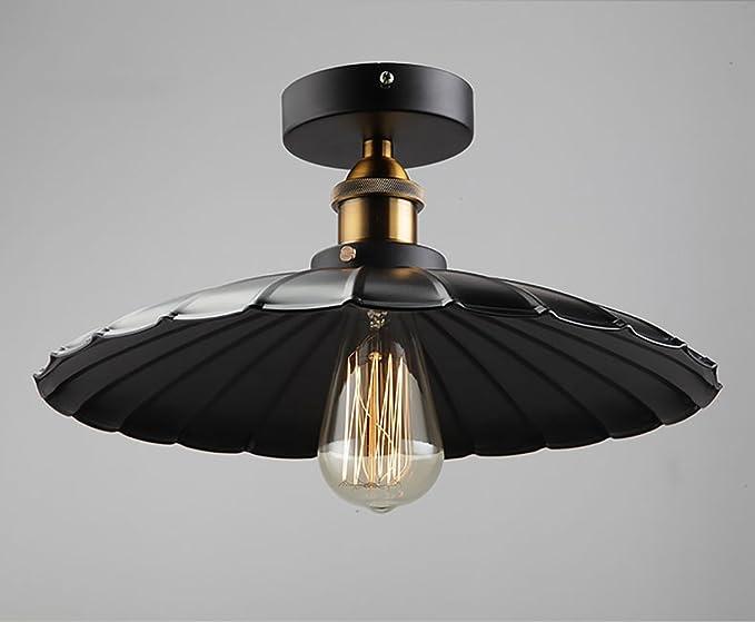 Art soffitto industrial retro style nero soffitto di illuminazione