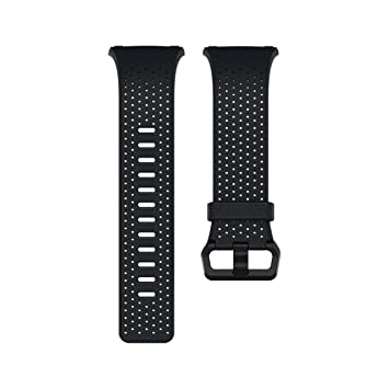 42a65d7c6 Image Unavailable. Image not available for. Color: Fitbit Ionic Perforated  Leather Accessory Band, Midnight Blue ...