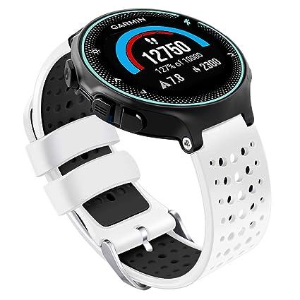 Oenfoto Compatible Garmin Forerunner 235 Watch Band, Soft Silicone Bracelet Sport Wristband Strap Replacement Watch Band for Garmin Forerunner ...