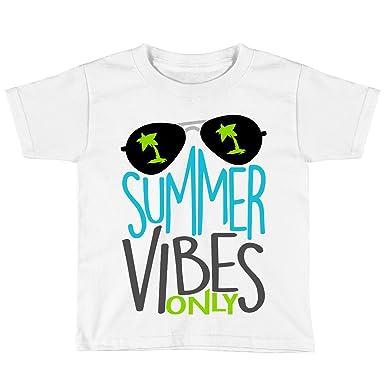 dd61599f9f0 Amazon.com  Blu Magnolia Co Boys Summer Vibes Only Shirt  Clothing
