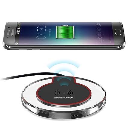 Induktive Ladestation Qi Charger Kompatibel mit Samsung