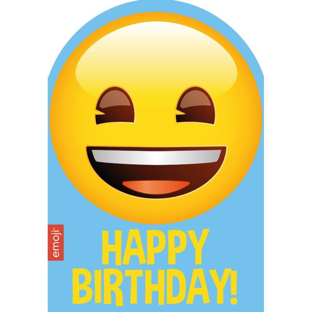 Emoji Smiley tarjeta de felicitación de cumpleaños: Amazon ...