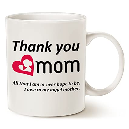 Image Unavailable  sc 1 st  Amazon.com & Amazon.com: Christmas Gifts Mom Coffee Mug - Thank you mom. All that ...