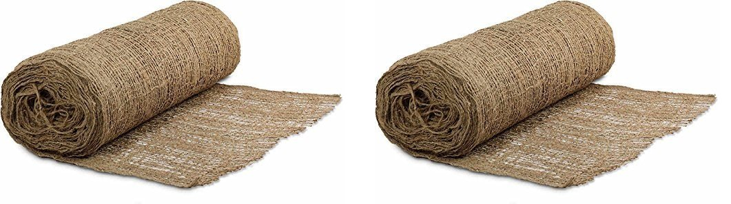 Mutual 17685 Jute Mesh Blanket, 225' Length X 4' Width (Pack of 2) by Mutual Industries