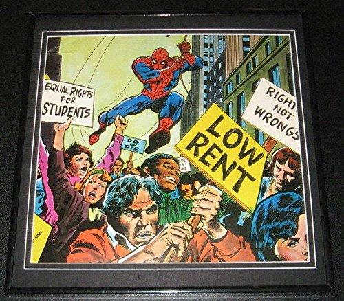 Amazing Spiderman Equal Rights Parade Original Framed 1978 Marvel Post