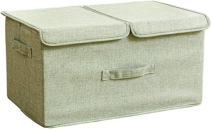 IVHJLP Cajas de almacenaje Cajas de almacenamiento con tapas Cubo Caja de almacenamiento con asas, Caja de almacenamiento plegable de poliéster, Cestos de almacenamiento Cestas para ropa Juguetes DVDs: Amazon.es: Hogar