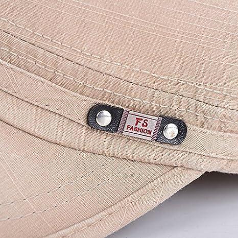 Roffatide Unisexe Mode Lav/é Coton Toit Plat Casquette de Baseball R/églable Militaire Chapeau