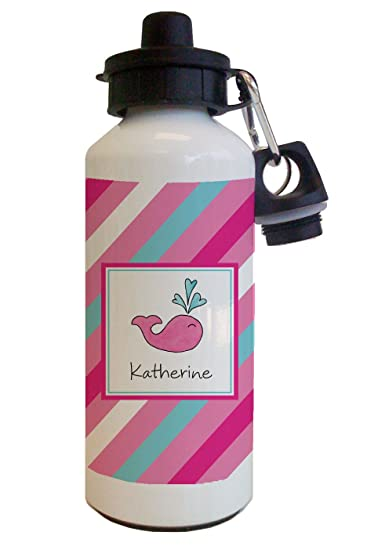 Amazon.com: Preppy rosa ballena botella de agua: Health ...
