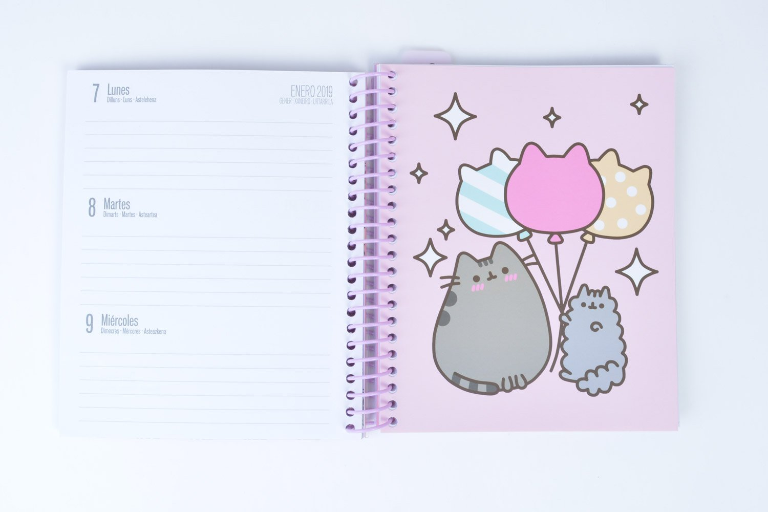 Grupo Erik Editores - Agenda escolar Pusheen The Cat 2018/2019 Semana vista, 15,5 x 19 cm