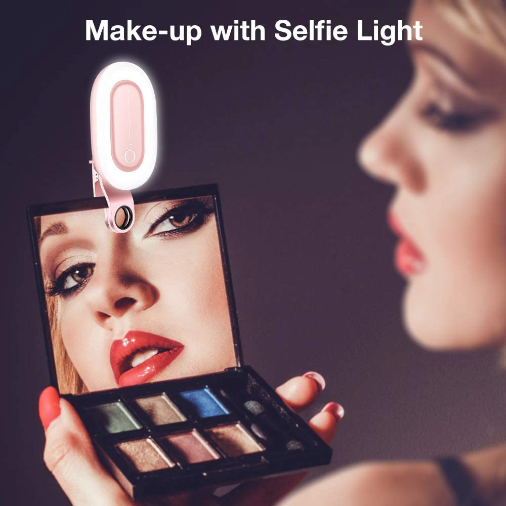 Circle Light with led Light Ring Great Lighting for Video Recording or Clip on Selfie Light Bright/ led Ring Light ARO de luz The Perfect Selfie Ring Light for Phones and laptops Ring Light
