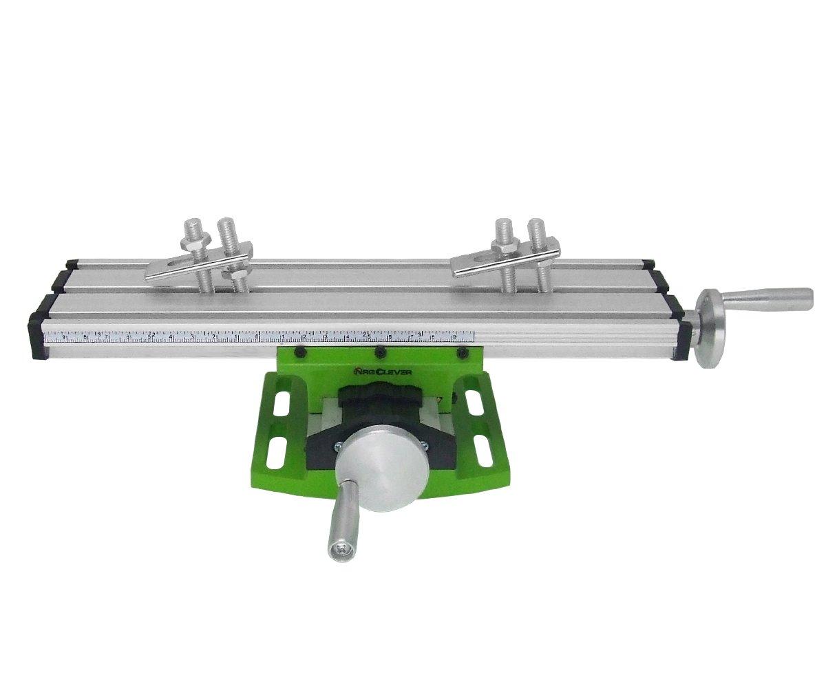 BG6300 Mesa Transversal de Precisió n, Tabla Cruzada con Abrazaderas Banco de Tornillo en Cruz de Trabajo para Taladros, Fresadoras, CNC, etc. Superficie de Trabajo de 310 x 90 mm NRG CLEVER
