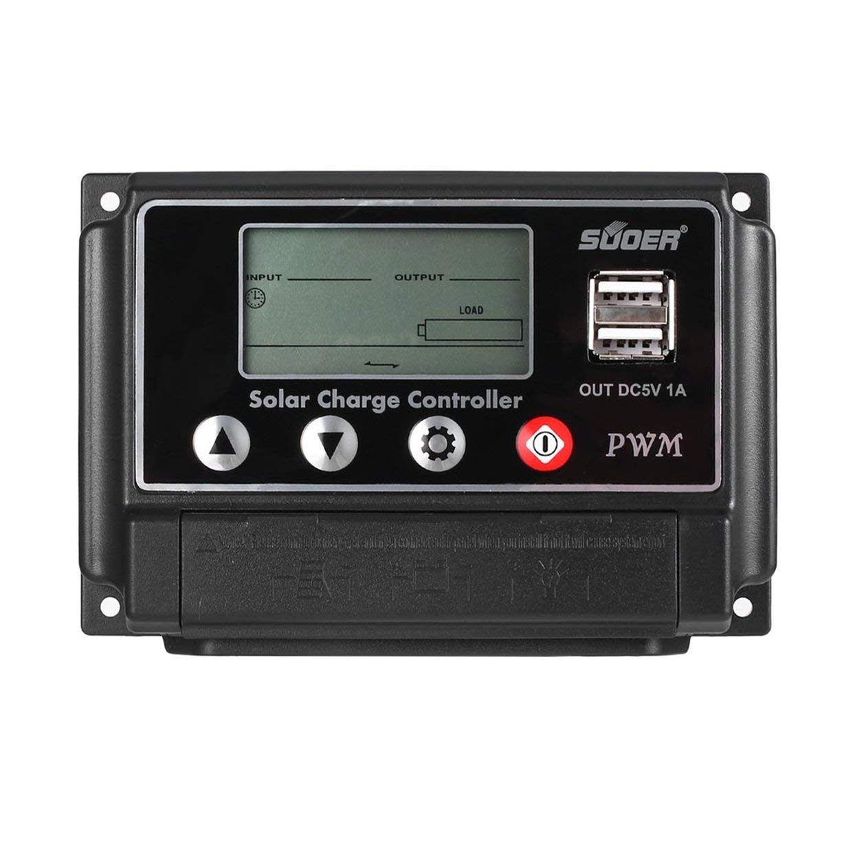 Dual USB Solar Power Regulator 30A Intelligent Charge Controller LCD Display Multifunction Outdoor Traveling Powerbank