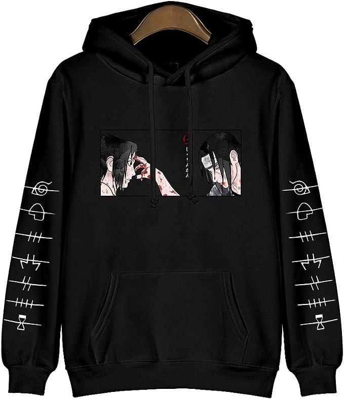 Japanese Anime Naruto Hoodie Itachi Sasuke Baumwolle Pullover Streetswear Casual Sweatshirts Cosplay