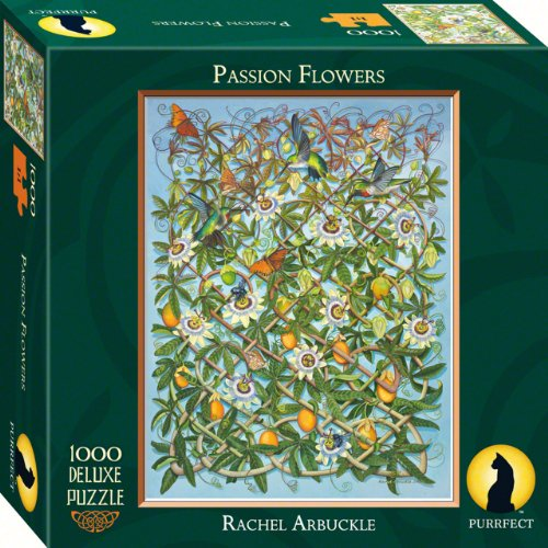 Purrfect Puzzles Passion Flowers 1000 Piece (Passion Of Christ Flower)