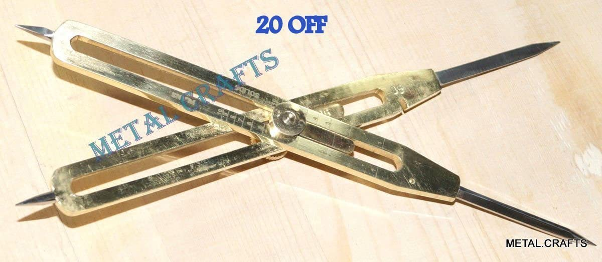 Aaban Nautical Brass Divider Proportional Engineer Drafting Tool 9 Steel A