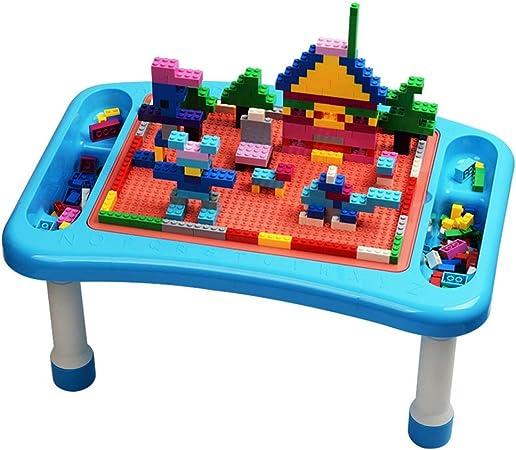 Juego Bloques Construcción Mesa for niños Mesa de Juguete Gránulos Mesa de Madera ensamblada Mesa de Juegos for niños Multifuncional (Color : Azul, tamaño : 48x32.5x23.5cm): Amazon.es: Hogar