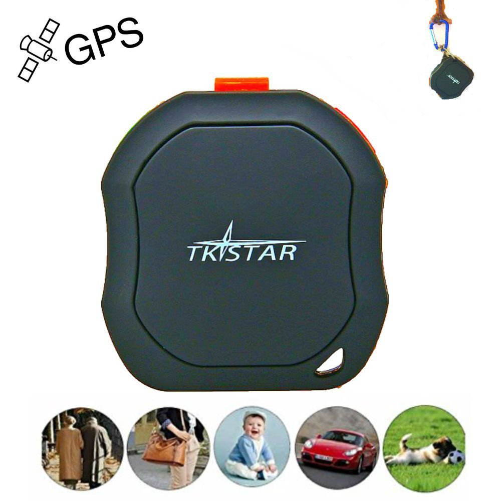 TKSTAR Mini Portable GPS Tracker, Pet Cats Vehicles Children Elderly Mini GPS Outdoor Navigation SOS Waterproof GPS Tracking Device Real Time with Free App for Android and iPhone TK1000 JUNEO