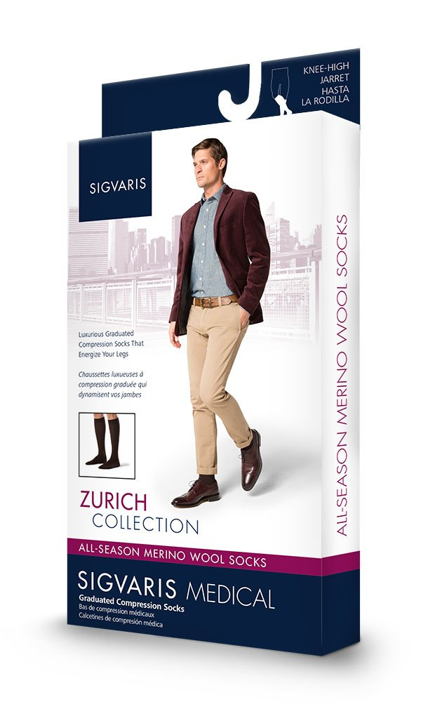 Amazon.com: Sigvaris 242C 20-30mmHg All Season Wool Mens Compression Knee High X-Large Short, Brown: Health & Personal Care
