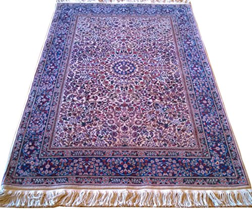 Handwoven Turkish Hereke Carpet Area Rug 4.02 x 6.10 ft.
