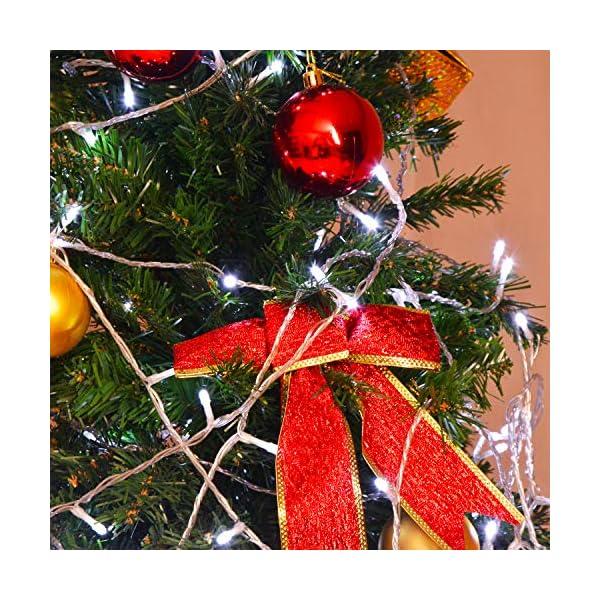 ipow 33M 300 LED Catene luminose Stringa luci Luci per albero di natale interno 8 Effetti di luce Impermeabilità IP44 Decorazione natalizia Interni ed Esterni, Matrimonio, Finestra, Luce Fredda 6 spesavip