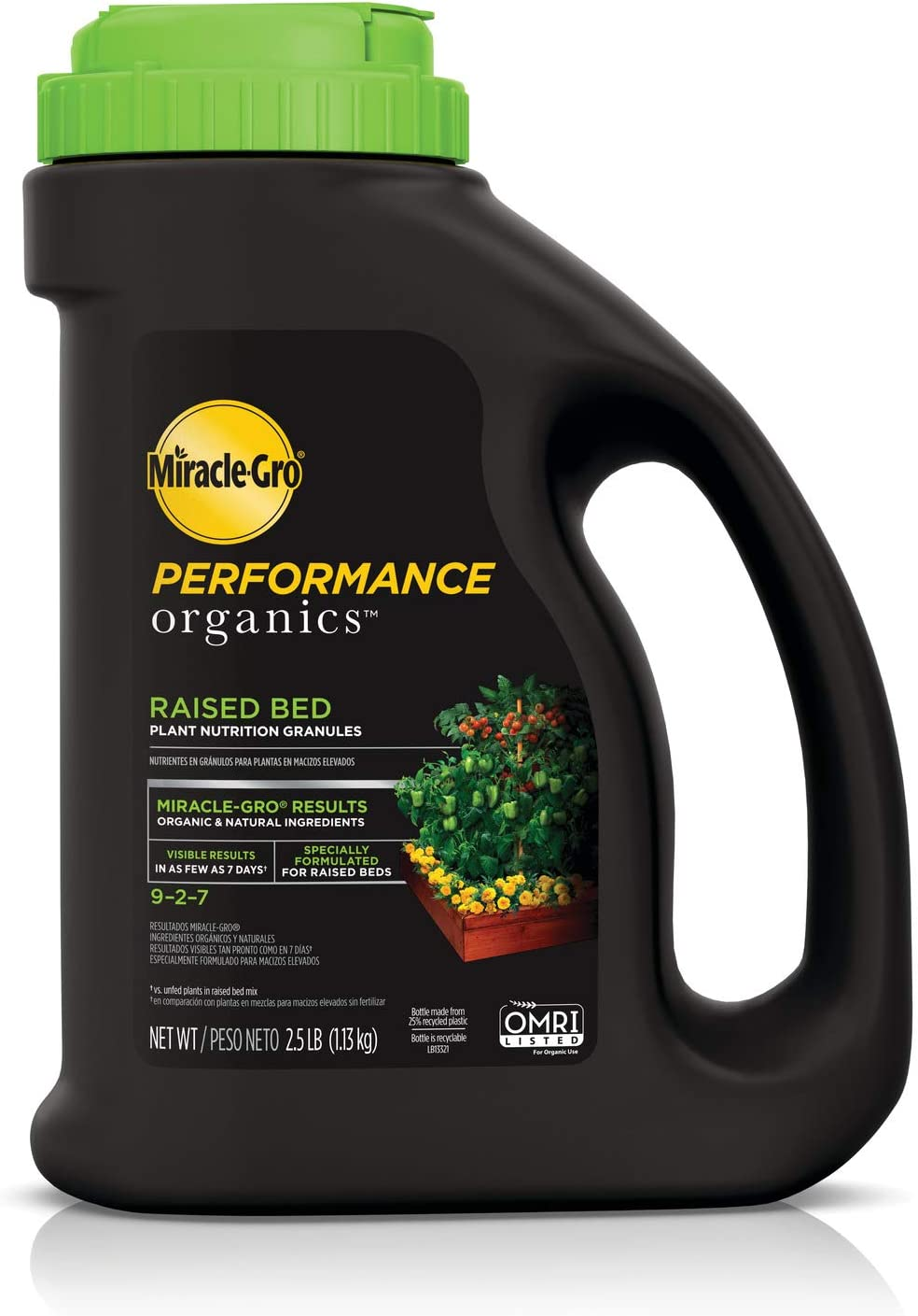 Miracle-Gro Performance Organics Raised Bed Plant Nutrition Granules - Plant Food with Natural & Organic Ingredients, for Vegetables, Fruits, Herbs and Flowers in Raised Beds, 2.5 lbs.