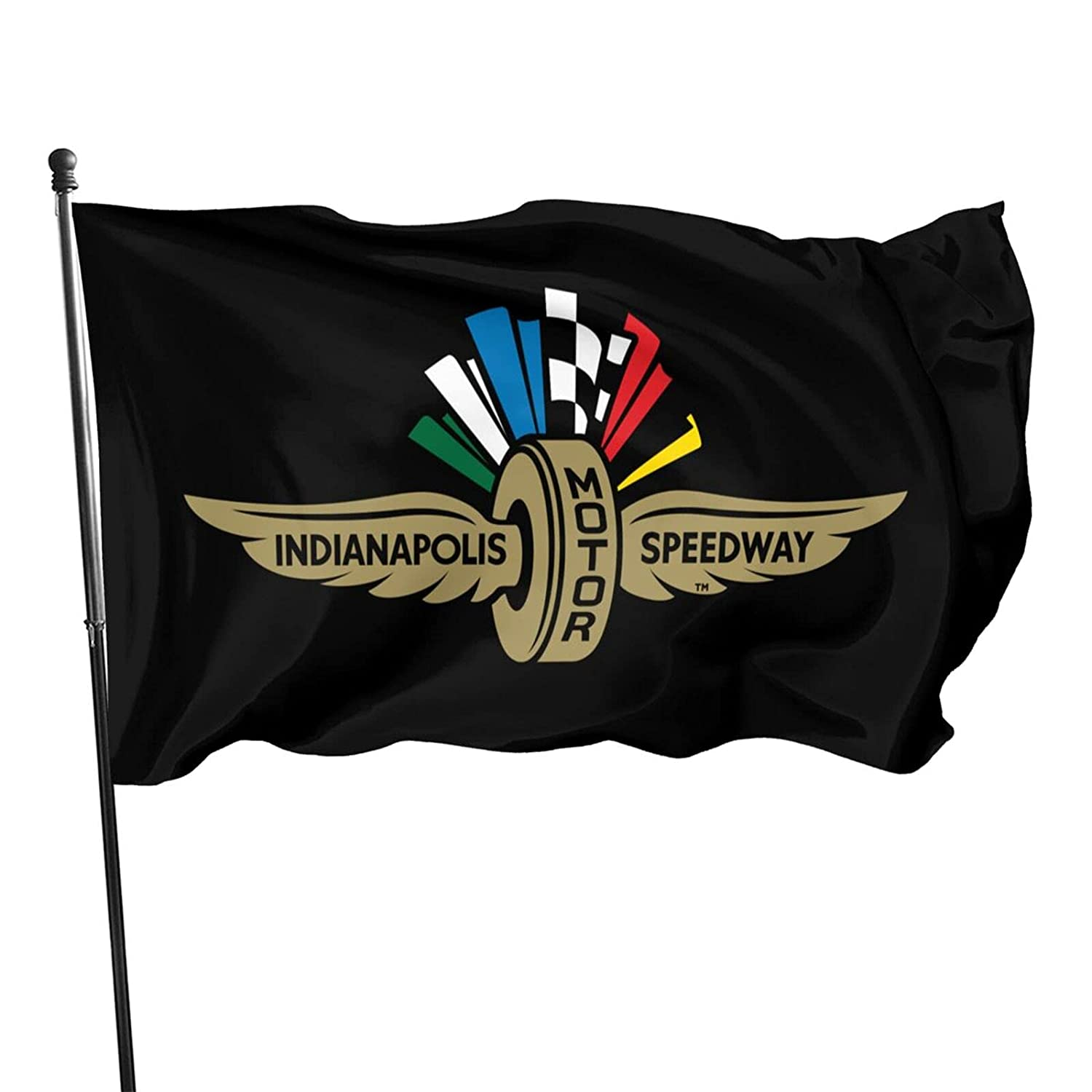 Indy 500 The Flags Outdoor House Porch Welcome Holiday Decoration Flag Suitable For Christmas/Birthday/Happy New Year 3x5 Ft Garden Flag